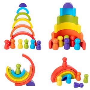 Rainbow Stacking Toy by bolzor.com