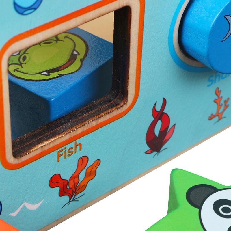 Montessori Cognitive Shapes Matching Cube bolzor.com 4