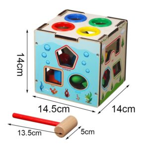 Montessori Cognitive Matching Cube (Wooden) at bolzor.com