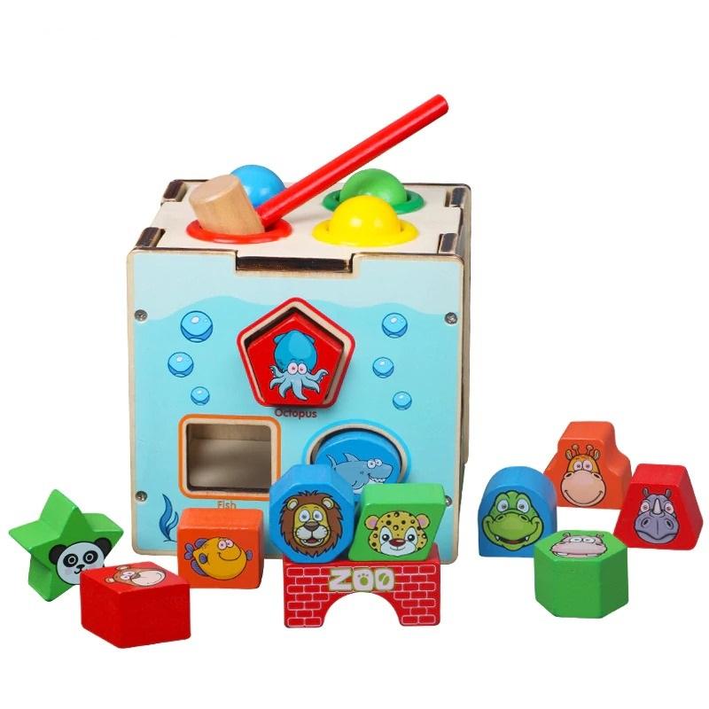 Montessori Cognitive Shapes Matching Cube bolzor.com