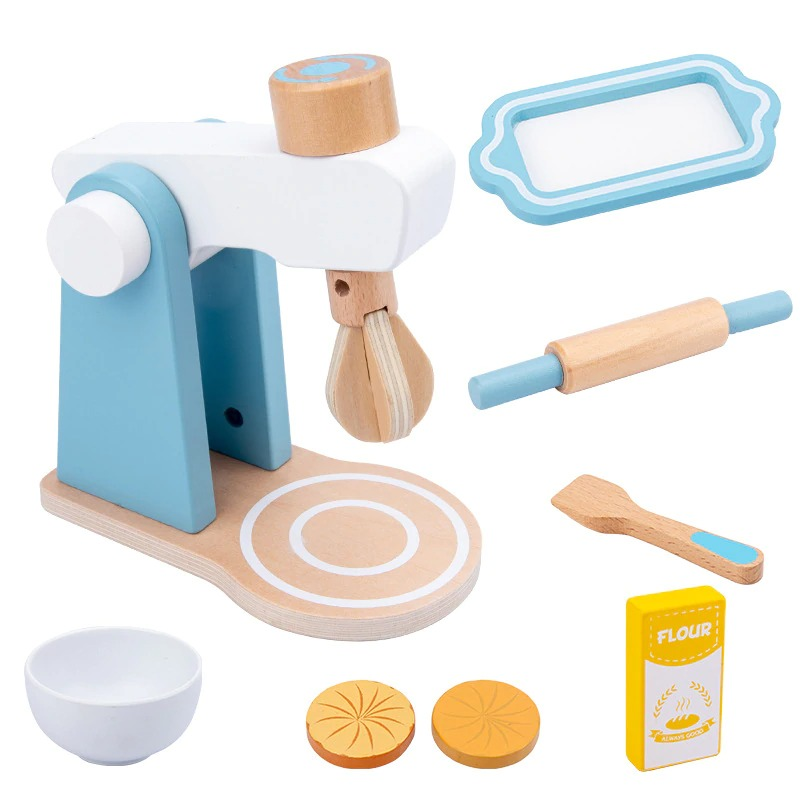 Pretend Play Kitchen Accessories Toy Set (Wooden) 2
