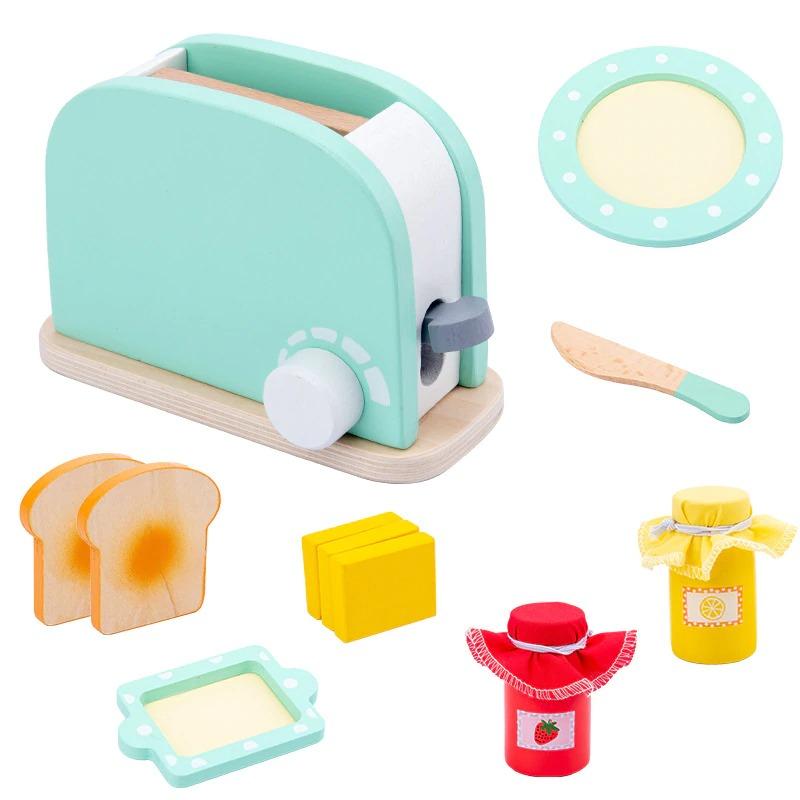 Pretend Play Kitchen Accessories Toy Set (Wooden) 5