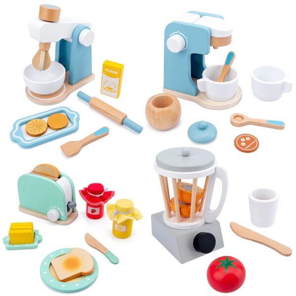 Pretend Play Kitchen Accessories Toy Set (Wooden)
