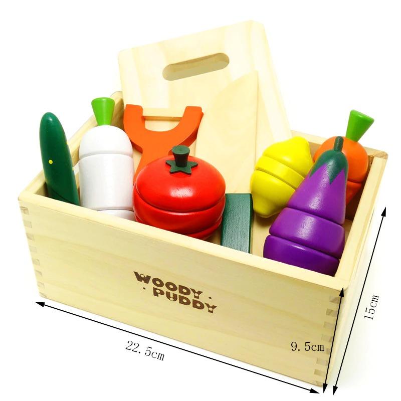 Wooden Cutting Fruit & Vegetables Set 3