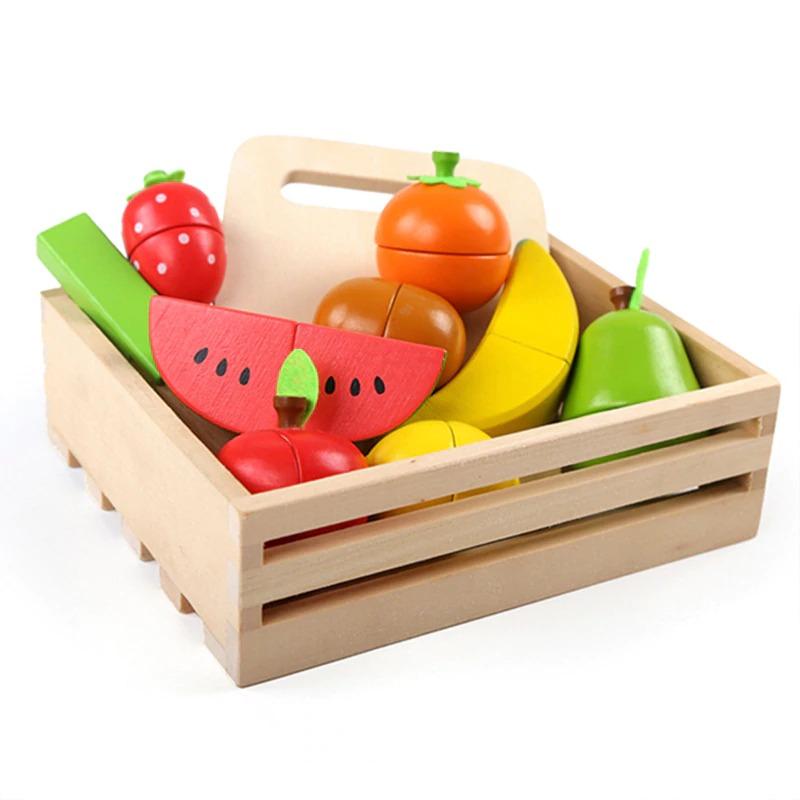 Wooden Cutting Fruit & Vegetables Set
