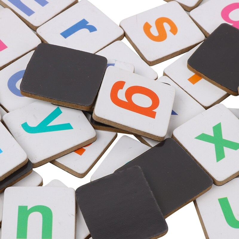 Wooden Magnetic Letters and Numbers Toys 4