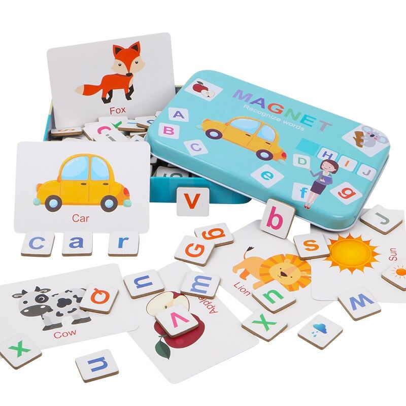 Wooden Magnetic Letters and Numbers Toys