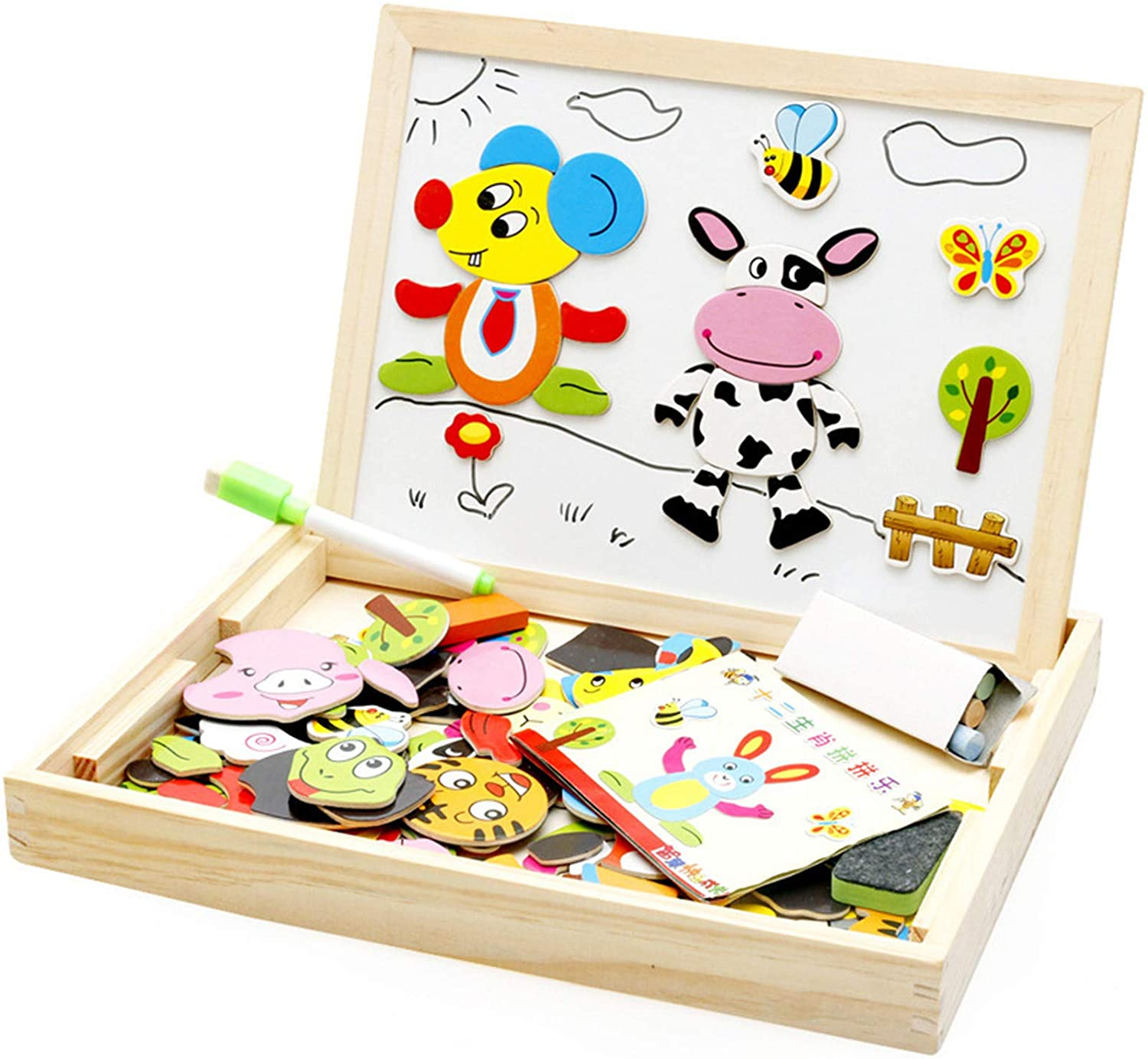Wooden Magnetic Puzzle Drawing Board 1