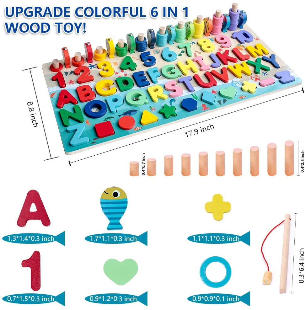 Wooden Number Puzzle Game Montessori Toys For Toddlers 2