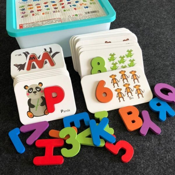 Wooden Alphabet and Number Puzzles