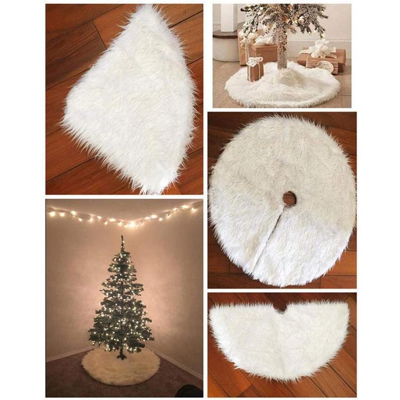 Faux Fur Christmas Tree Skirt 5