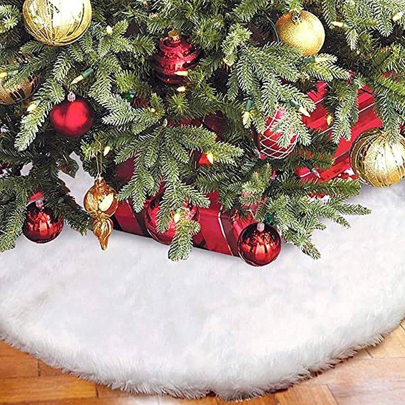 Faux Fur Christmas Tree Skirt 7