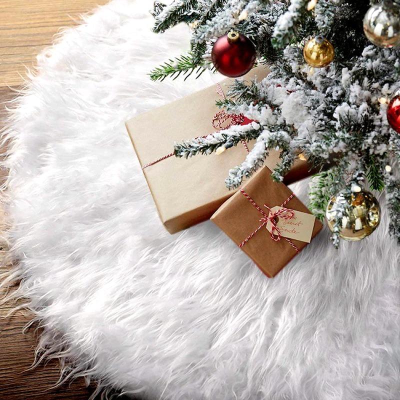 Faux Fur Christmas Tree Skirt