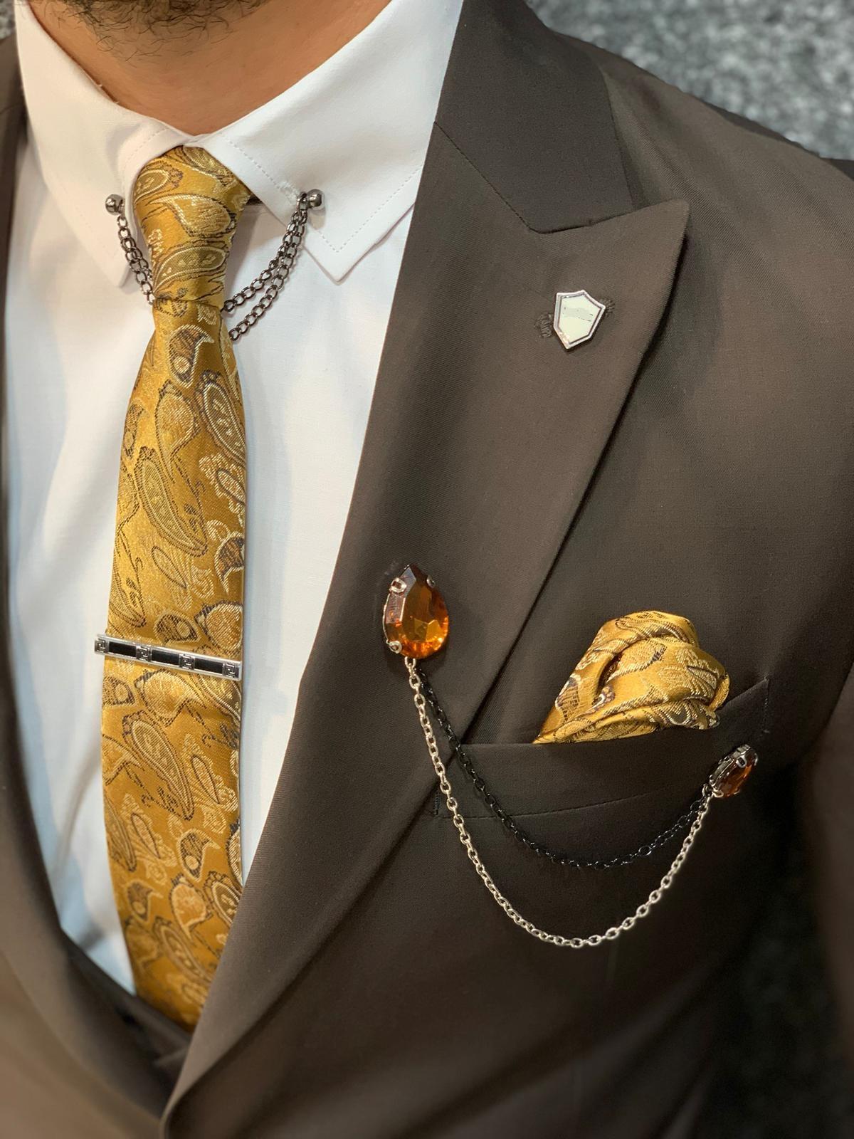 BespokeDaily Ventura Coffee Slim Fit Wool Suit (2)