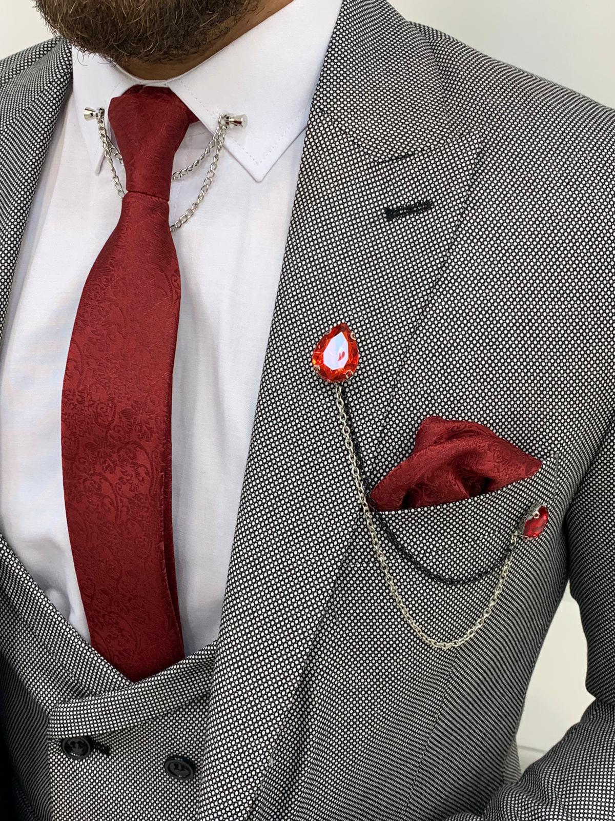 Salem Gray Slim Fit Wool Suit (3)